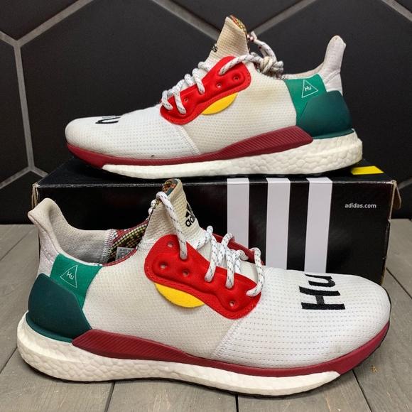 new product 6a8f8 2c9e2 Adidas Pharrell x Solar Human Race Glide White 9.5
